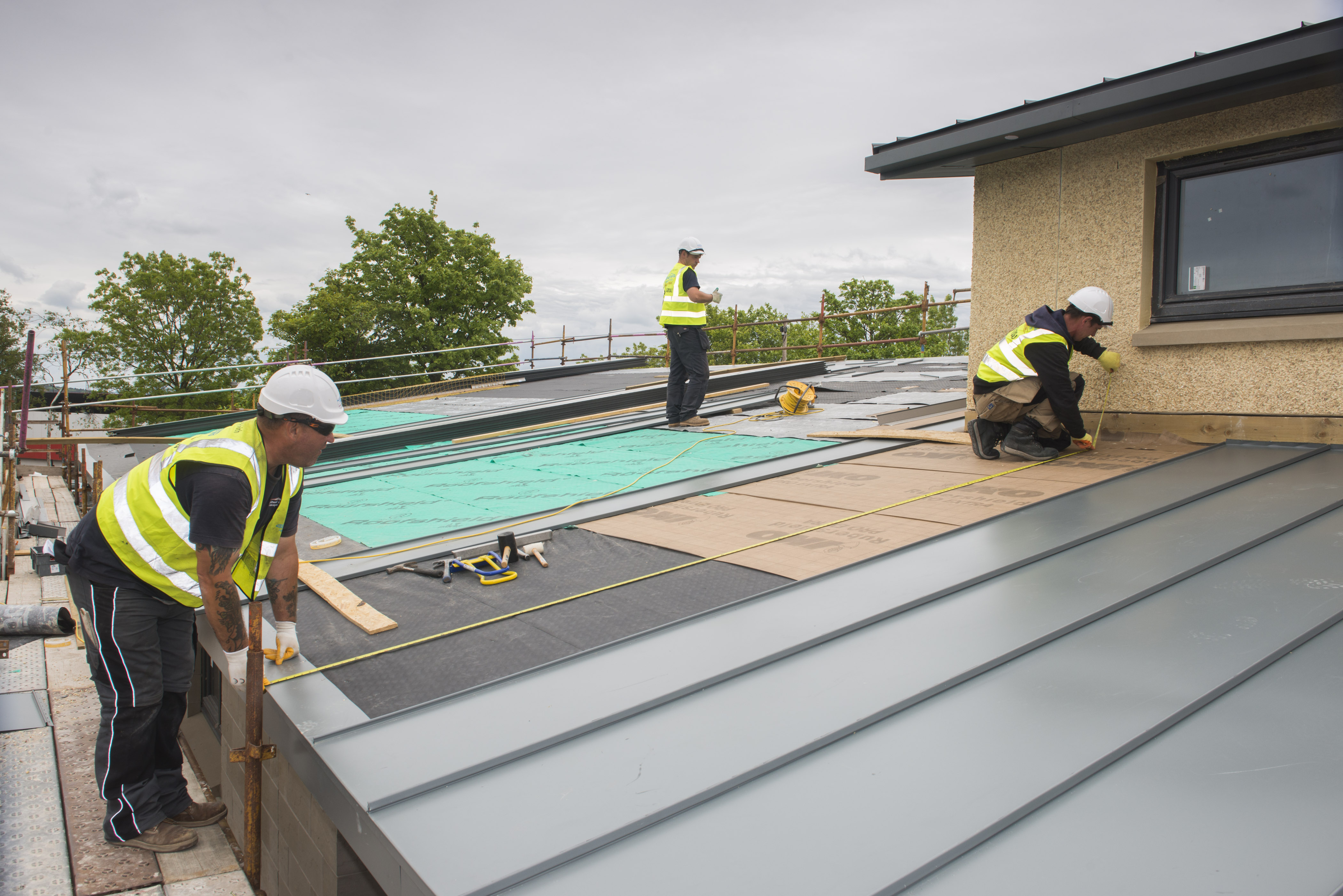 Standing Seam Roofing Amp Cladding Prodek Flat Roofing