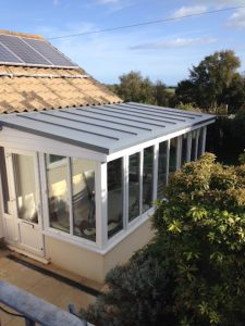 Standing Seam Roof on conservatory by Prodek Flat Roofing Essex