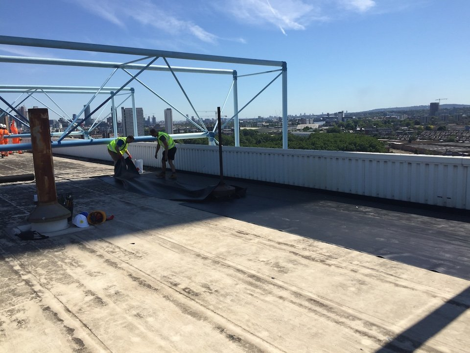 Installing Single Ply Flat Roof in South East London