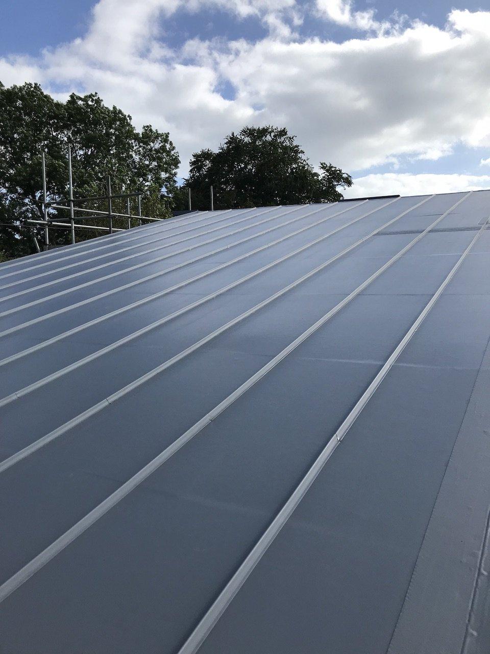 Noss Mayo South Devon single Ply Standing Seam Roof