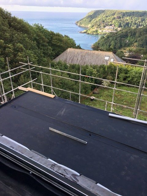 New Flat Roof installation in Salcombe South Hams