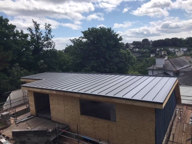 Standing Seam Single Ply Roofing fitted in Torquay, South Devon