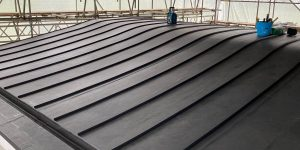 Standing Seam Single Ply membrane Roof in Bishopsteignton